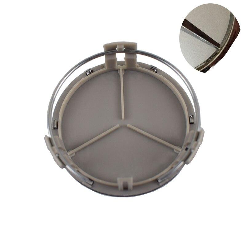 4 teile/los 75mm Schwarz/Silber ABS Auto Radmitte Cap Auto Felge Emblem-abzeichen-fit Für Mercedes G M R S Auto Styling