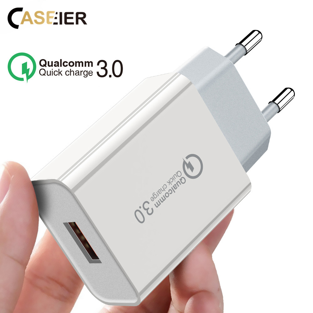 CASEIER QC USB 3.0 Fast Charger For <font><b>iPhone</b></font> 6 <font><b>7</b></font> 8 Plus X XS Max EU US Plug Wall Charger Fast Charger <font><b>Adaptor</b></font> ForXiaomi Huawei image