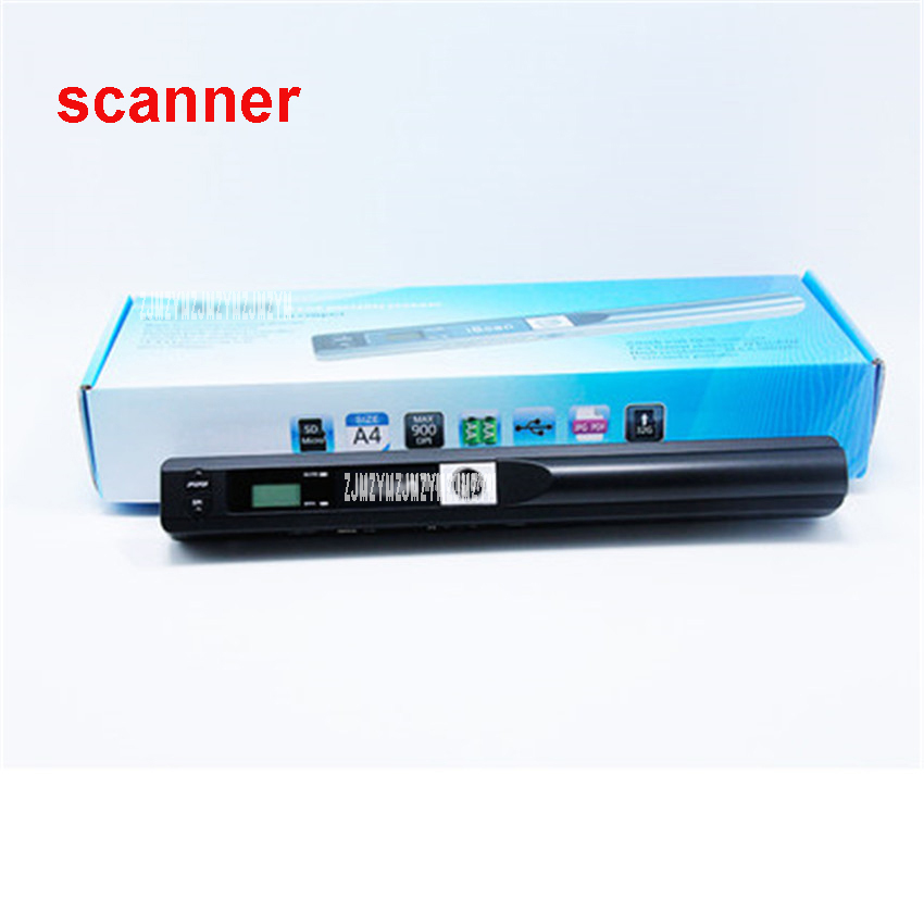 01 Portable Scanner HD High Speed Color A4 File Photo Handheld Scanner USB2.0 Interface 300 * 300DPI, 600 * 600DPI, 900 * 900DPI 900dpi mini handheld scanner a4 document scanner iscan01 blue