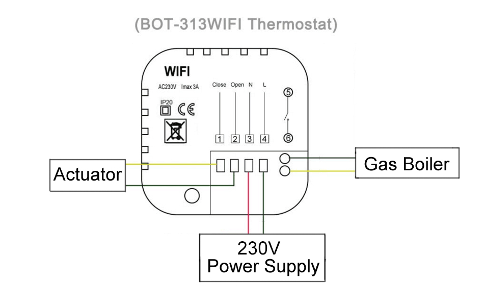 Wifi Thermostat Wiring Diagram from ae01.alicdn.com