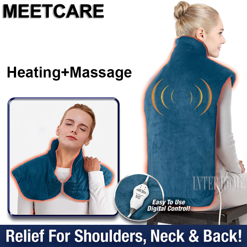 Heat Massage Pain Relief Wrap Neck Shoulder Back Therapy Pad Warm Body Soothing Sore Muscles Achy