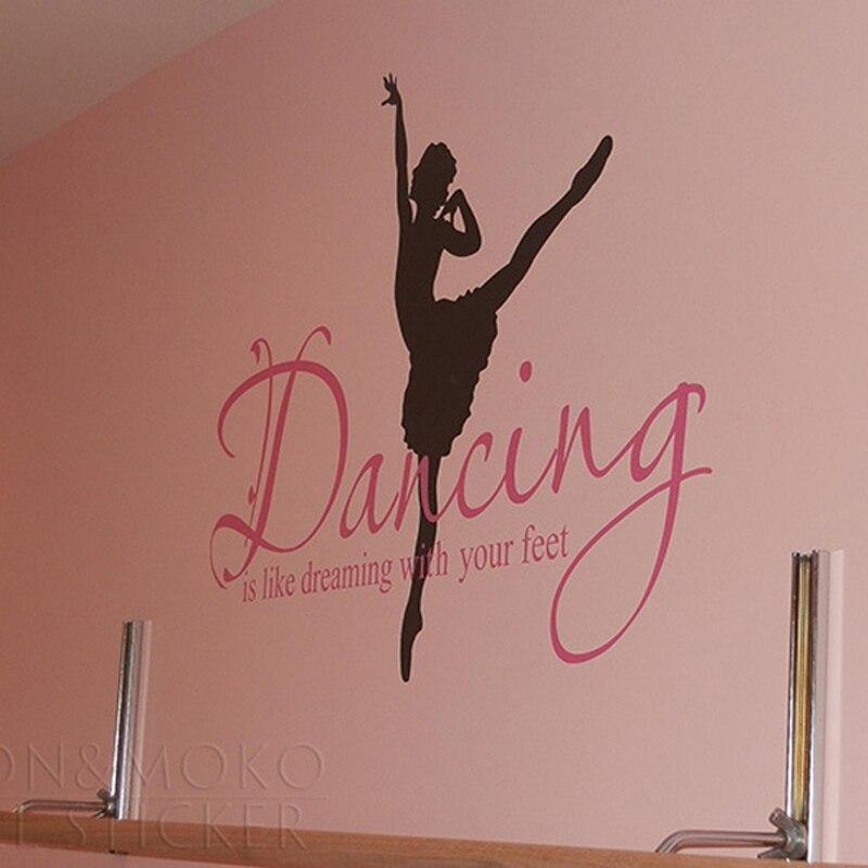 Ballet Wall Art popular ballerina wall stickers-buy cheap ballerina wall stickers