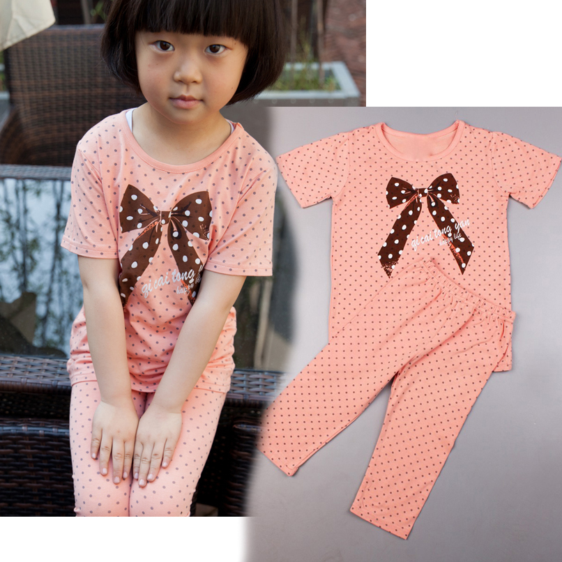 Kids Summer Pajama Sets Short Sleeve Girls Sleepwear Casual Good Quality Kids Pajama Sets Girls Clothing Sets Vestidos Infantils girls summer sets 100 page 5