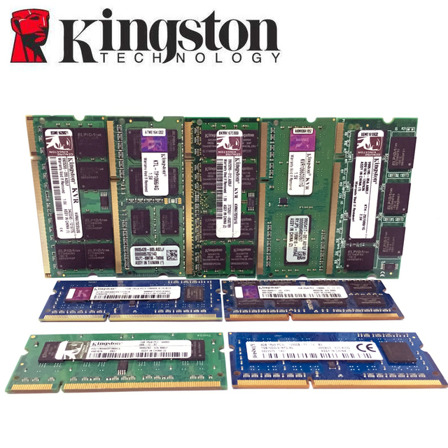 Kingston Laptop notebook 1GB 2GB 4GB 1G 2G 4G PC2 PC3 DDR2 DDR3 667 1066 1333 1600 MHZ 5300S 6400S 8500S ECC memory RAM