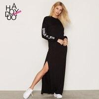 Winter Kleidung Frauen Beiläufige Kleid Europa mode Kleidung Harajuku Langarm Kleid Feminino Robe Hiver Longue Dames Kleding
