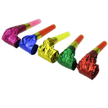 Bright Color Foil Blowout Party Noisemakers Set