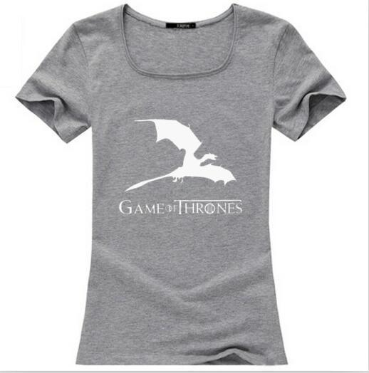 Tusdtw022 Game Of Thrones Womens T Shirt Fashion Cotton Casual Funny Tee Shirt Femme Harajuku Fashion Brand Hipster Punk Tops
