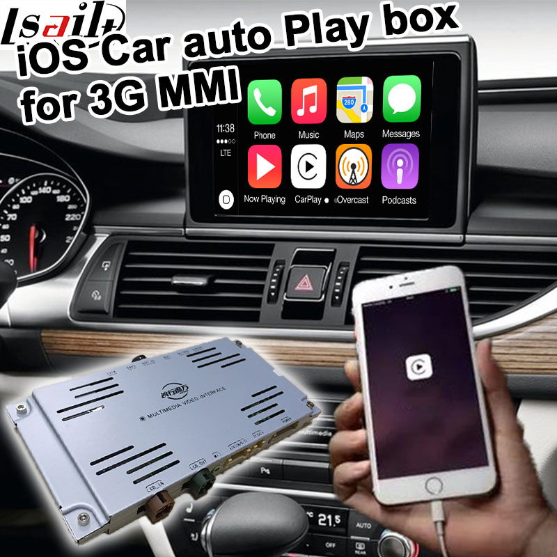 цена Car auto play box for Audi A4 A5 A6 A7 A8 Q5 Q7 2010-2016 3G MMI system etc for carplay audi