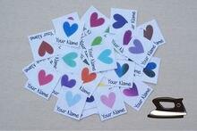 78 Personalisierte Kleidung Etiketten für Kinder mit Herzen (kundenspezifischer name tags)