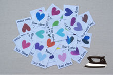 78  Personalized Clothing Labels for Kids with Hearts (custom name tags)