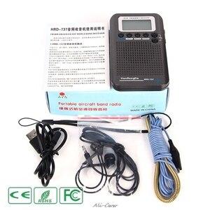 Image 2 - HRD 737 digital display lcd rádio banda completa portátil fm/am/sw/cb/ar/vhf mundo banda receptor estéreo rádio com despertador