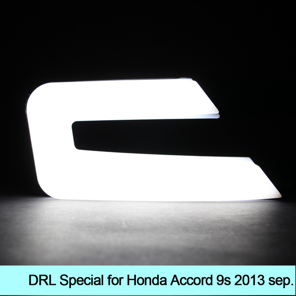 Car DRL kit for Honda Accord 2013 Daytime Running Light bar Super bright fog auto lamp BULB daylight for car led drl 12v light new car drl kit for toyota vios 2014 2015 led daytime running light bar turn signal fog auto lamp bulb daylight for car led drl