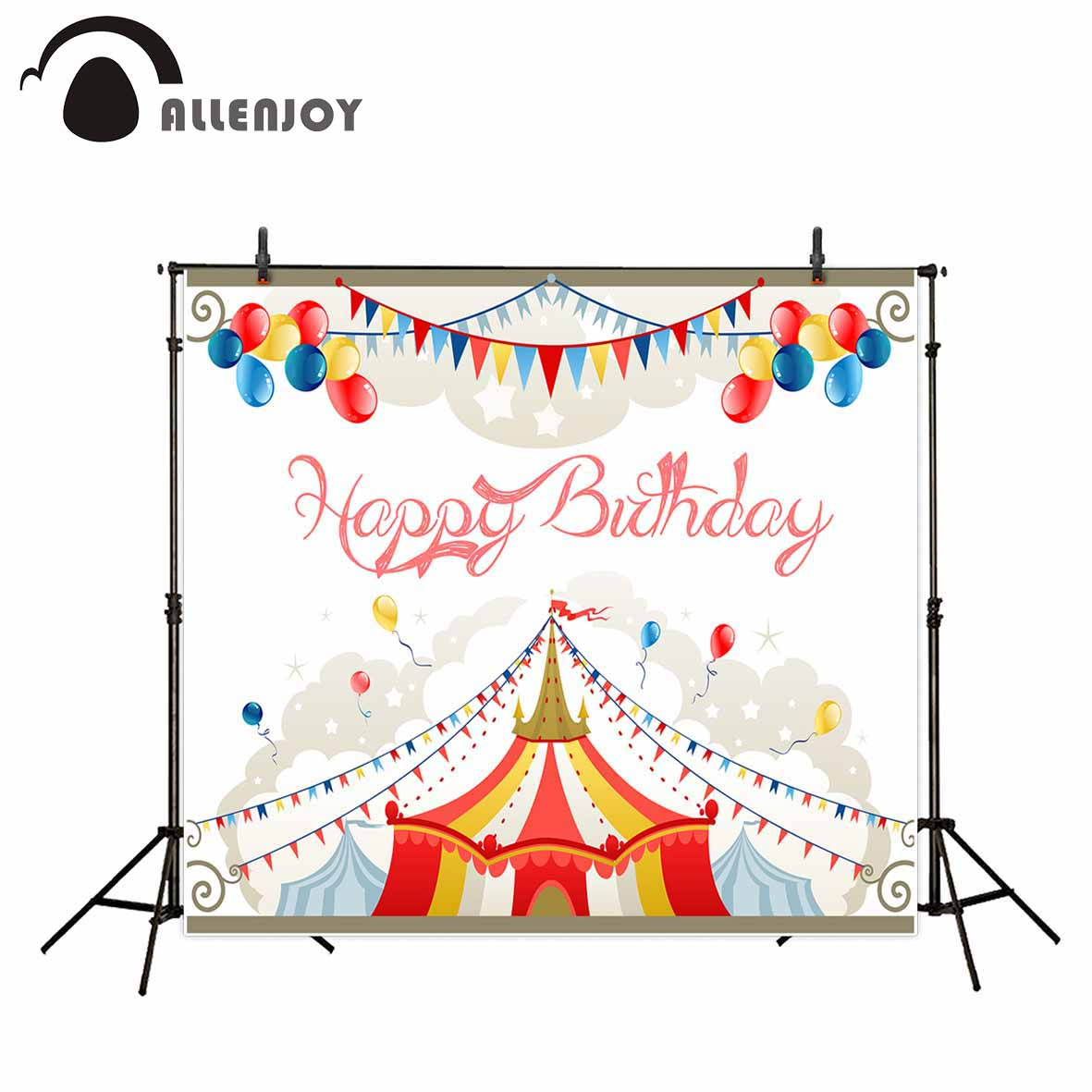Allenjoy backdrop for photo studio circus birthday balloons flags party background portrait shooting photocall  photobooth meking photographic studio photo table shooting tables with plexi cover 1m 2m background shooting board
