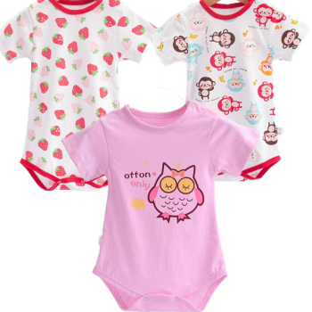 3 pcs/set Newborn Baby Bodysuits Infant Sets Girls Clothing Sets Cotton Good Quality One Piece Baby Accessories