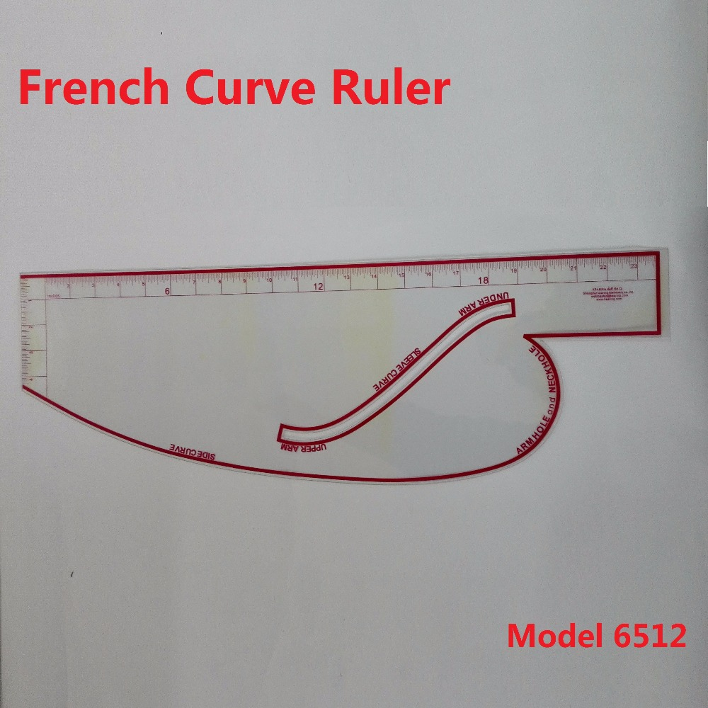 цена French Curve Ruler in British System;under arm,sleeve curve,upper arm side curve armhole and neckhole; 23 Inches #6512