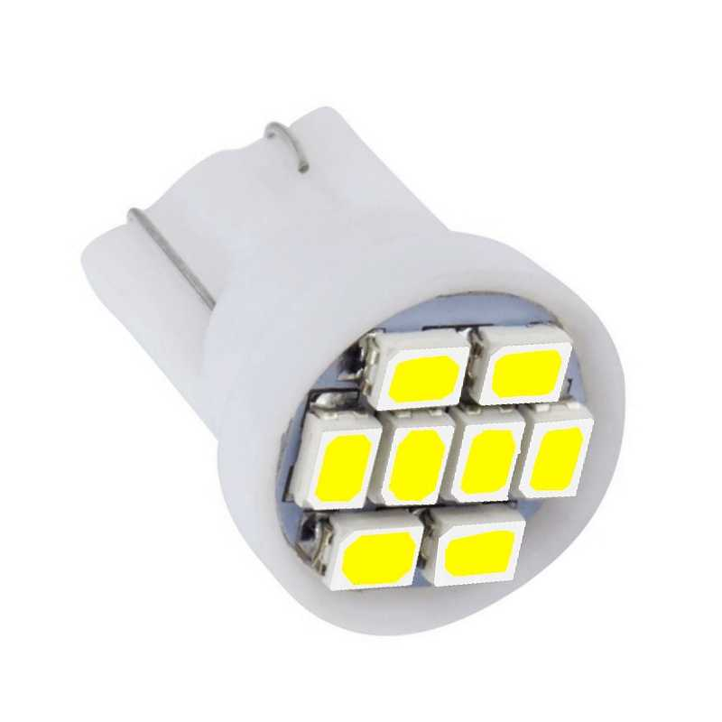 1PCS T10 LED Car Parking Light 8 SMD LED Auto Reading Lamp W5W 501 168 8SMD 8 LEDS License Plate Lights Wedge Tail Side Bulb