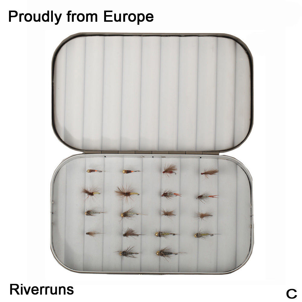 Riverruns 18 Competition Flies Trout UV Flies Nymph Flies With Aluminum Fly Box 5x vacuum cleaner dust bags filter bag for nilfisk extreme power allergy special p10 eco