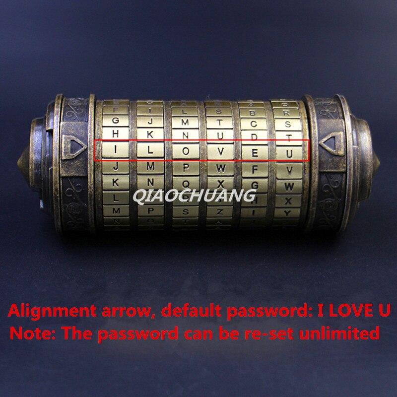 Le Davinci Code Cryptex saint valentin Confession petite amie copain cadeau d'anniversaire serrure + 2 anneaux emballage cadeau - 2