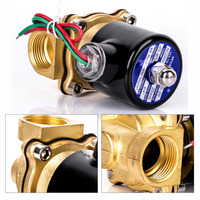 1pc Brass Electric Solenoid Valve Water Air Fuels Practical Black Valves AC 220V 2W 200 20