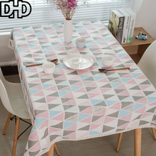 Triangle Tablecloth Geometry Manteles Nappe Rectangulaire Table Cloth Rectangular Cotton Linen Blend Table Cover Tafelkleed
