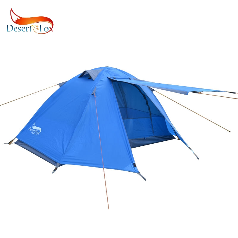 Desert&Fox Single Tent Aluminum Alloy Poles Double Layers Waterproof Large Space Portable Storage Package Travel Tent