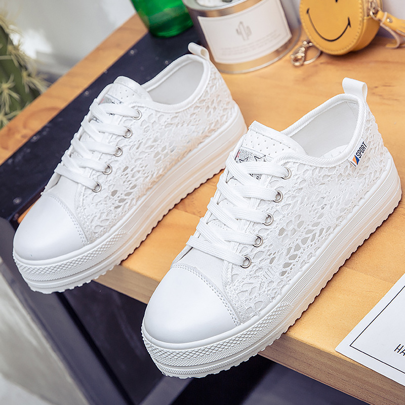 Summer shoes 2018 casual women Shoes Cutouts Lace Canvas Hollow Breathable Platform Flat Shoes woman summer women shoes casual cutouts lace canvas shoes hollow floral breathable platform flat shoe sapato feminino lace sandals page 3