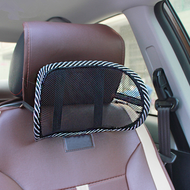 Car Seat Chair Back Support Massage Cushion Mesh Lumbar Back Brace Headrest Pillows And Office Chair Lumbar Supportor