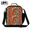 Flower Printed Insulated Lunch Bag Pattern for Girls Bag termica for Lunchbox Work Lunch Container for Women cute Lunch Box Bags