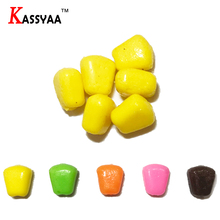 KASSYAA 10-50pcs 10mm 0.4g Soft Baits Corn Smell Carp Floating baits Wobblers Silicone Lure Fishing Lures Corns KXY091