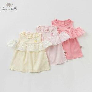 Image 1 - DBZ10529 dave bella summer baby girl clothes infant toddler sleeveless T shirt children boutique tops kids lolita tees