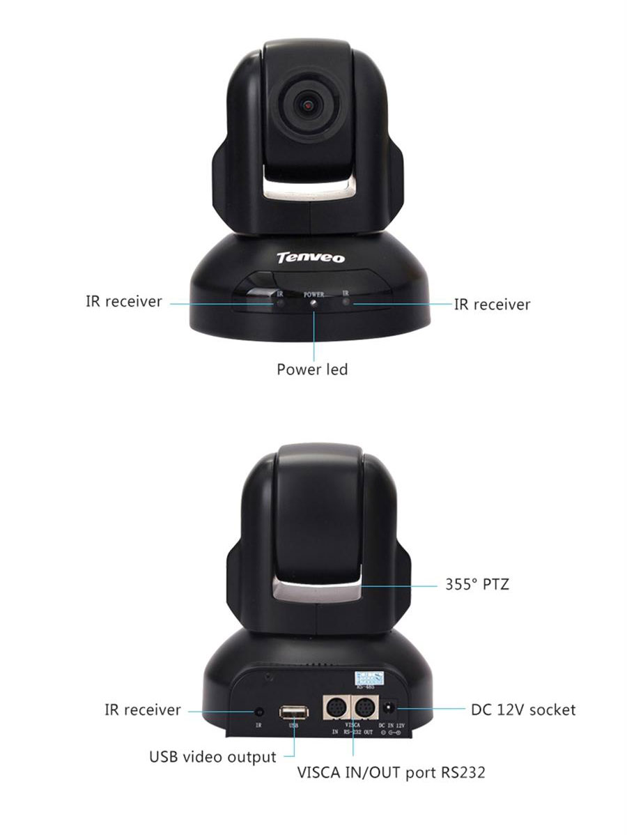 hd1080p 3x zoom usb webcam with 355 degree remoting for live streaming, PC, Laptop, video conference, computer