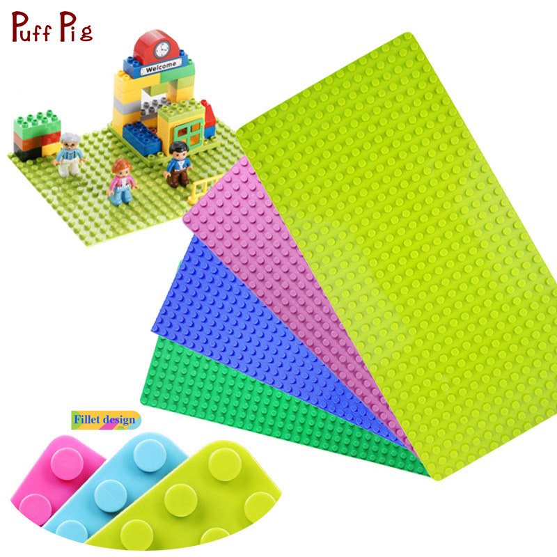 Big Size Blocks Base Plate 32*16 Dots Base Building Blocks Compatible Legos Duplo City Baseplate Building Block Toy For Children