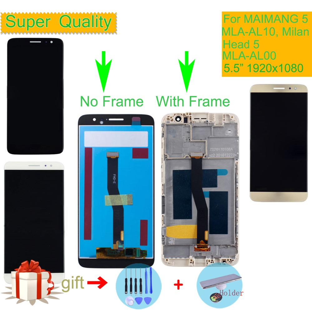 ORIGINAL For Huawei MAIMANG 5 LCD Head 5 MLA-AL00 MLA-AL10 MLA-L01 Milan LCD Display Touch Screen Digitizer Assembly With Frame