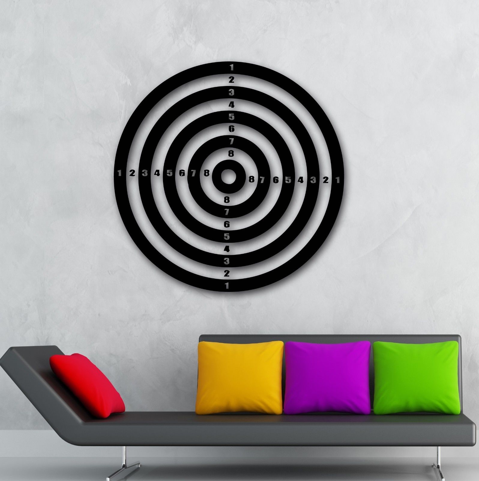 Wall Stickers Vinyl Decal Darts Sport Target Shooting Range Play Room free shipping ...