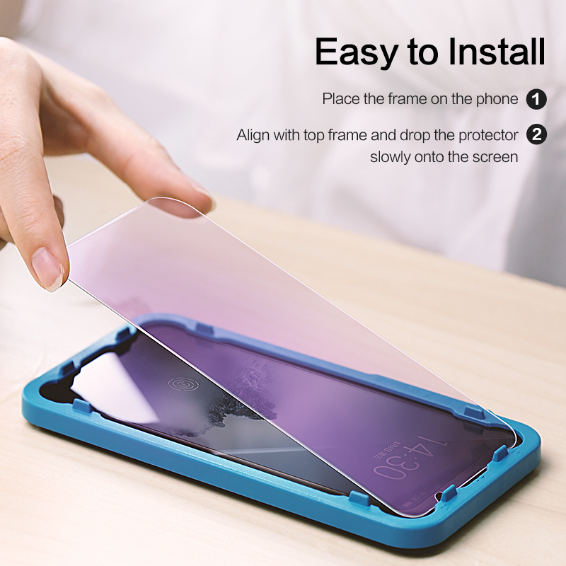Image 4 - SmartDevil screen protector For Meizu 16th tempered glass protector film 2 pieces mobile phone toughened film anti fingerprint-in Phone Screen Protectors from Cellphones & Telecommunications
