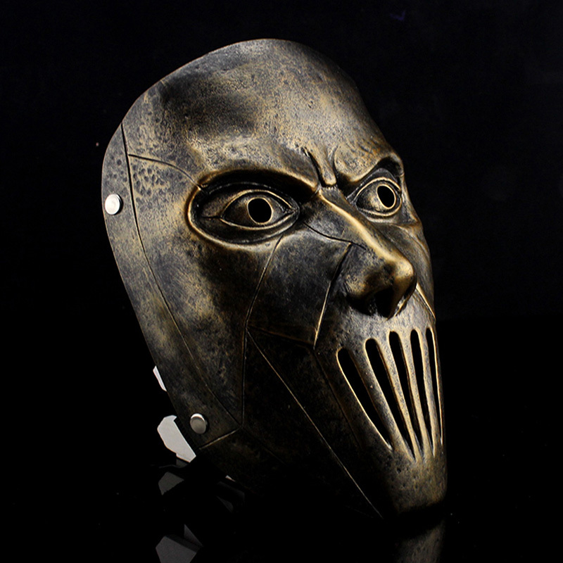 resin slipknot joey cosplay scary movie mask silver bronze halloween male party mask masquerade halloween props - Scary Props