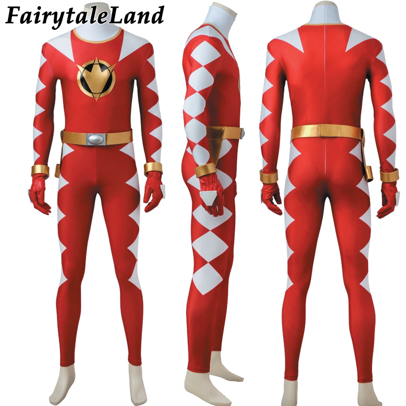 Tyranno Power Red Dino Ranger cosplay costume Carnival Halloween costumes Dino Thunder Red Ranger jumpsuit cosplay Costume-in Movie & TV costumes from Novelty & Special Use    2