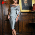 Real Photo Cheap Sliver Grey Elegant Plus Size Mother of the Bride Lace Dress Knee Length Pant Suits 2016 Groom For Weddings