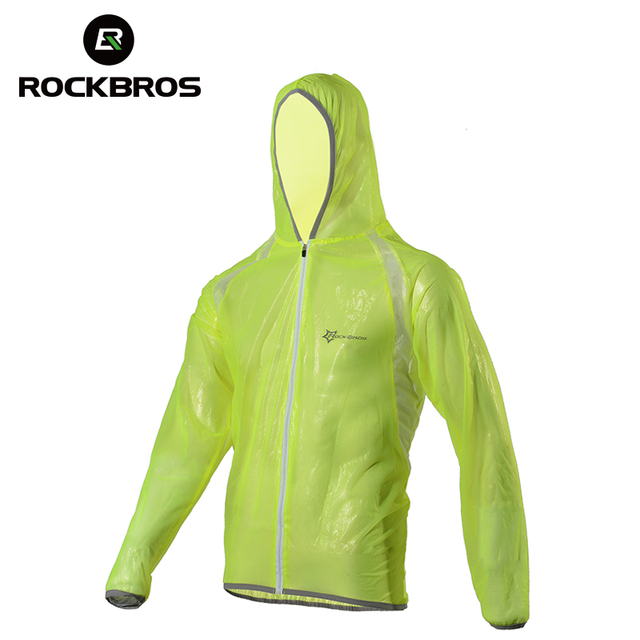 ROCKBROS Mountain Bicycle Bike Cycling Raincoat Breathable Compressed Windshield Waterproof Raincoat Outdoor Clothes 3 Colors
