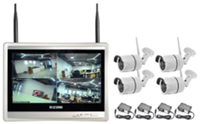 Wireless Security Camera System 4CH CCTV NVR Kit 960P 4pcs outdoor bullet IP camera HDMI 12.5ch Screen NVR home security