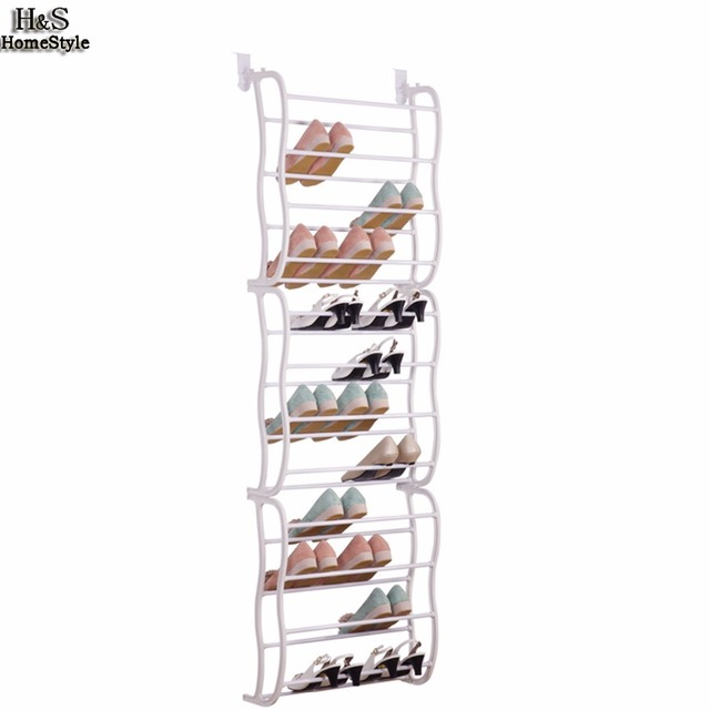 Homdox 12 Layers Fit 36 Pairs Portable Shoe Rack Multifunctional Hanging Over The Door Organizer B30a