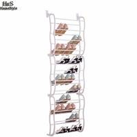 Homdox 12 Layers Fit 36 Pairs Portable Shoe Rack Multifunctional Hanging Over the Door Shoe Organizer B30A