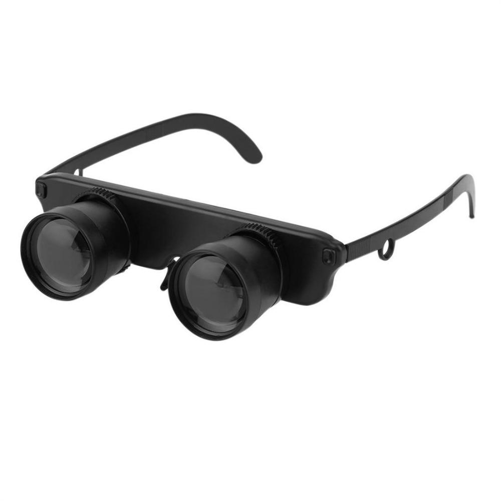Mejor 3X28 doble ojo estilo gafas de pesca al aire libre Binocular gafas ópticas
