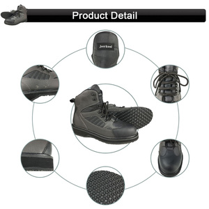 Image 5 - Fly Fishing Wading Shoes Rubber Sole & Pants Waterproof Clothes Waders Outdoor Hunting Overalls Boots Rock Aqua Upstreams Shoes