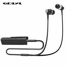 GDLYL Fones De Ouvido Portátil Mini Clip On Stereo Headset Sem Fio Bluetooth Adaptador Receptor de Áudio de 3.5mm do Fone de ouvido Com Microfone