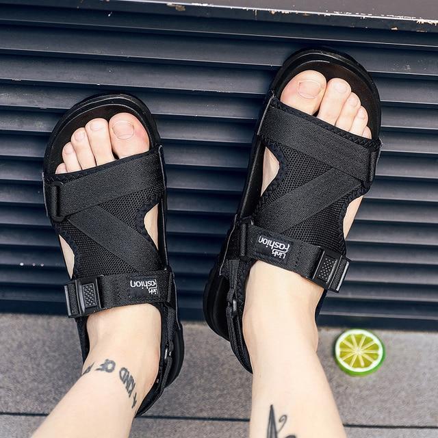 Fashion Man Beach Sandals Summer Gladiator Men's Outdoor Shoes Roman Men Casual Shoe Flip Flops Slippers Flat Large Size 36-46 Sandals
