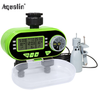 New Arrival Two Outlet Garden Digital Electronic Water Timer Solenoid Valve Garden Irrigation 21060 And Rain