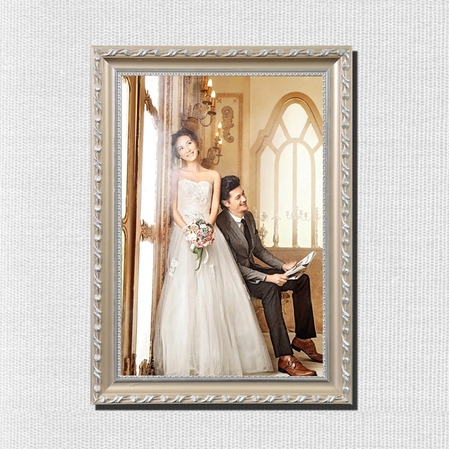 European Style Solid Wood Knot Wedding Photography Studio Hanging Wall Frame Oil Painting Box