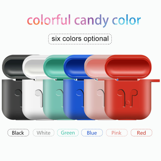 1f7cbae29d0 Soft Silicone Cover For Apple Airpods Waterproof Shockproof Protector Case  Sleeve Pouch For Air Pods Earphone