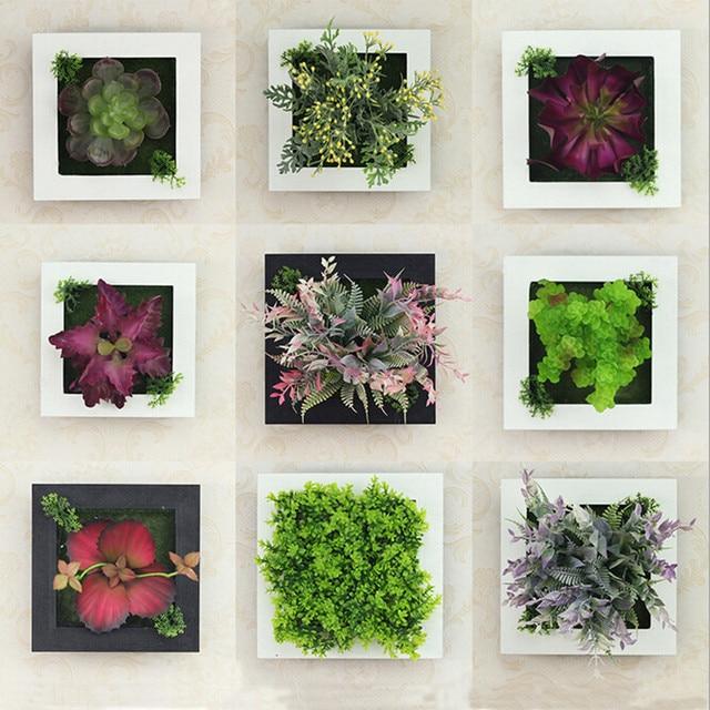Decoration Murale Simulation Fleurs Et Plantes Succulentes Tentures